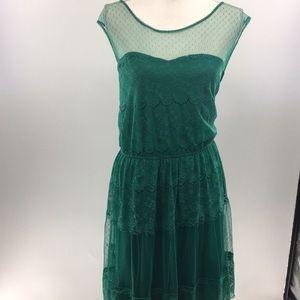 🍁Pinky dress green